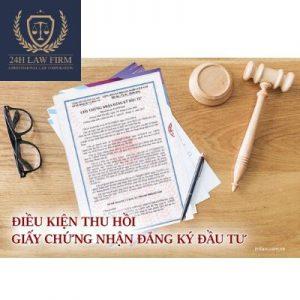Điều kiện thu hồi giấy chứng nhận đầu tư – Luật 24h