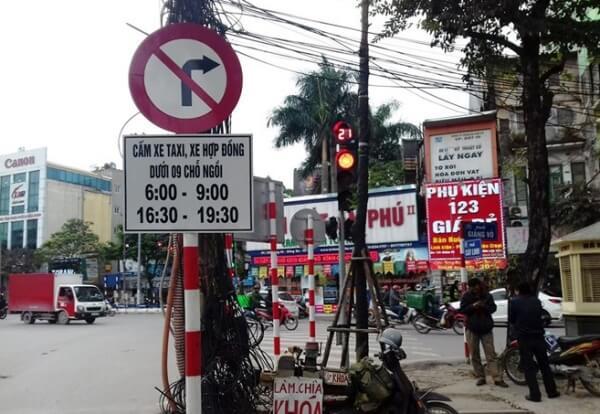 Xe ô tô đi vào khung giờ cấm bị phạt bao nhiêu tiền- Luật 24H