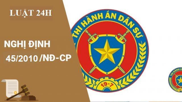Nghị định số 45/2010/NĐ-CP về hoạt động Hội