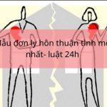 Mẫu đơn thuận tình ly hôn mới nhất của tòa án huyện Ngọc Hiển