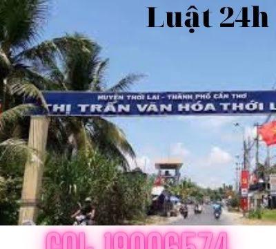 Giải quyết ly hôn tại huyện Thới Lai – Luật 24h