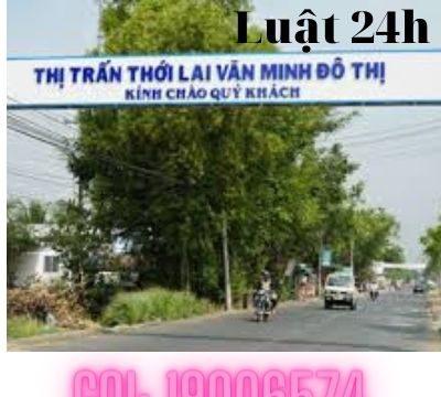 Công ty luật tư vấn giải quyết ly hôn tại huyện Thới Lai – Luật 24h