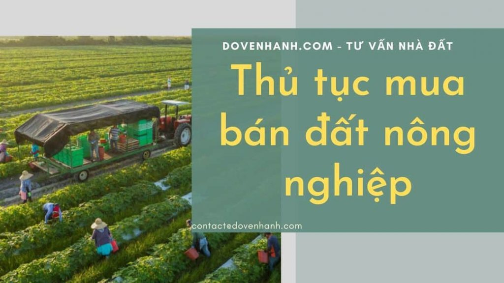 Tư vấn thủ tục mua bán đất nông nghiệp?