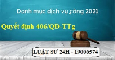 Quyết định 406/QĐ-TTg thủ tướng chính phủ phê duyệt danh mục dịch vụ công trực tuyến
